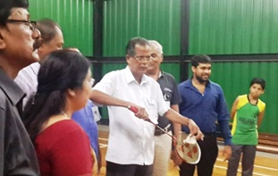 Inauguration of Badminton Court  by Sri. K J Mathai