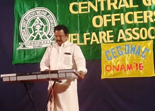 C K Ramachandran on the Key-board
