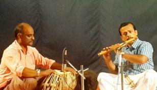 Flute by Manoj accompanied by Sudheer on Tabala