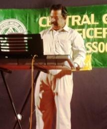 Sri. C K Ramachandran on the Key-board